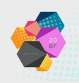 abstract hexagonal background with halftone vector image vector image