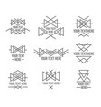 abstract monotone geometric shapes with variety of vector image
