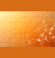 abstract orange polygonal space background with vector image vector image