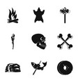 antiquated icons set simple style vector image vector image