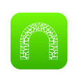 arch icon digital green vector image vector image
