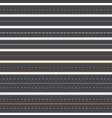 asphalt roads vector image