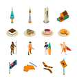 australian tourists attraction isometric icons set vector image vector image