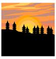 Autumn Sunset Shillouette vector image
