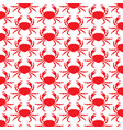 background pattern with crabs vector image