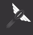 ball with wings american football or rugby vector image vector image