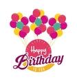 balloons happy birthday design vector image vector image