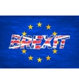 Brexit Flags of the United Kingdom and the vector image vector image