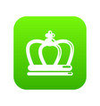 britain crown icon green vector image vector image