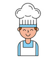 chef boy character with hat vector image vector image