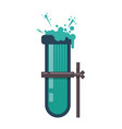 chemistry flask lab vector image vector image