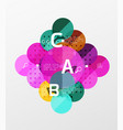 circle modern geometry infographic background vector image vector image