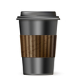 coffee cup to go black vector image vector image