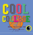 college basketball graphic design art vector image