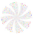 confetti stars fireworks swirl rotation vector image vector image