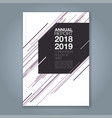 cover annual report 907 vector image vector image