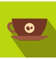 Cup of coffee icon flat style vector image