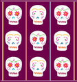 Day of the Dead Sugar skull vector image vector image