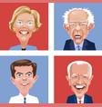 democrats warren sanders buttigieg biden vector image