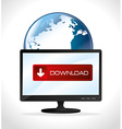 Ebook digital design vector image
