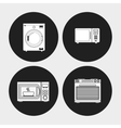 electronic appliances for home design vector image vector image