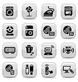 electronic home devices icons vector image vector image