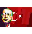 erdogan vector image