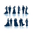 Evening people silhouettes vector | Price: 1 Credit (USD $1)