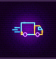 fast truck neon sign vector image