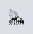 fire chopper motorcycle vector image