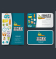 fitness and healthy lifestyle corporate identity vector image vector image