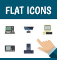 flat icon computer set of processor pc vintage vector image vector image