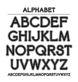 Font with rounded corners and contour vector image