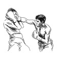 Hand sketch Boxers vector image vector image