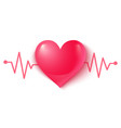 heart and pulse vector image vector image