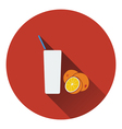 Icon of Orange juice glass vector image