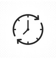 line icon clock in circular arrow vector image