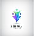 logo design template concept for family vector image vector image