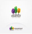 logo tree in watercolor style vector image vector image