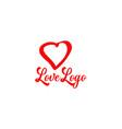 love icon symbol logo design template vector image vector image