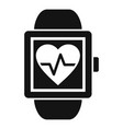 man smartwatch icon simple style vector image