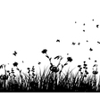 Meadow And Butterflies vector image