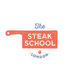 meat logo logo for cooking school with icon chef vector image vector image
