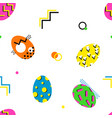 memphis style easter seamless pattern vector image vector image
