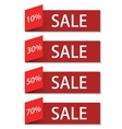 modern sale discount set vector image