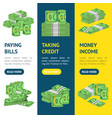 money dollar banner vecrtical set packing in vector image vector image