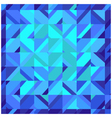 Mosaic blue square background vector image vector image
