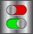 on and off round slider buttons red and green vector image