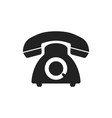 phone icon old vintage telephone symbol vector image