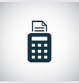 pos terminal icon simple flat element design vector image